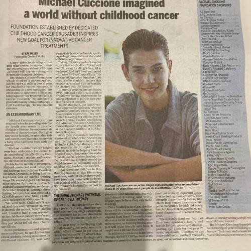 Michael Cuccione imagined a world without childhood cancer